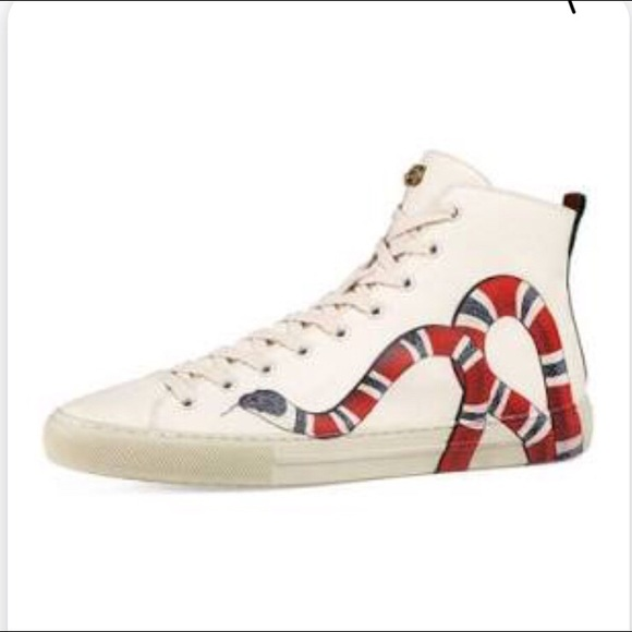 edb1634be7d 🙏host pic🙏Gucci high top sneak leather sneakers